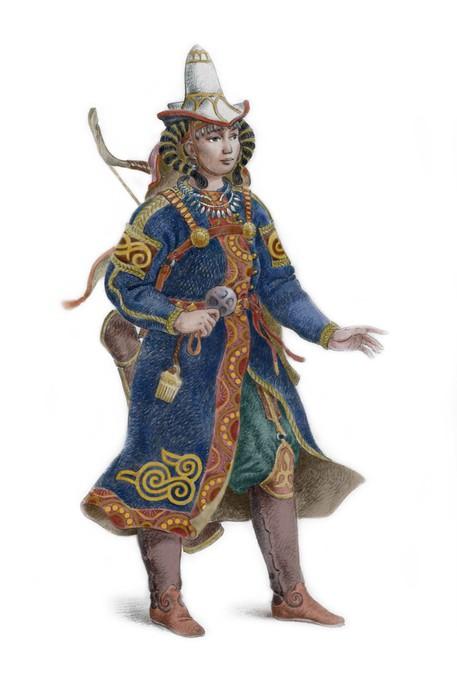 У половцев сражались не только мужчины, но и женщины. Половчанка-воительница от худажника Булата Гильванова.